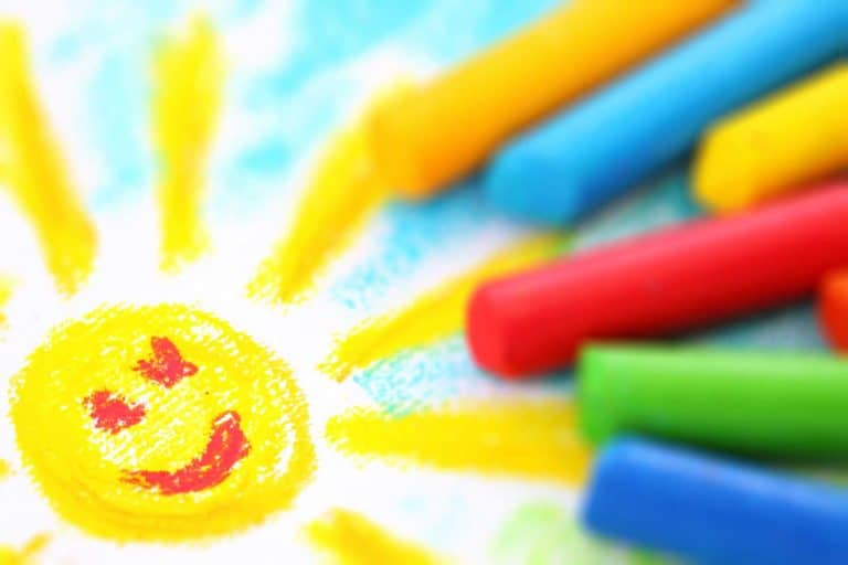 Sunny Day Toddler Drawing